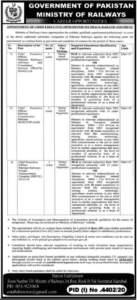 Ministry of Railways Jobs 2021 For CEO Chief Executive Officers