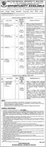 Nishtar Medical University Medical Jobs 2021 in Multan for Pathology
