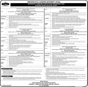 Pakistan Civil Aviation Authority PCAA Jobs 2021 for Management