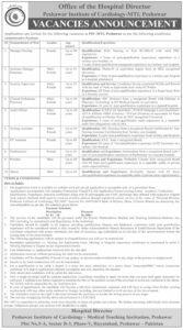 Peshawar Institute of Cardiology Jobs 2021 for Manager Nursing