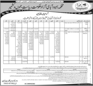 Population Welfare Department Jobs 2021 for Social Mobilizer