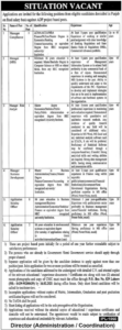 Public Sector Organization Jobs 2021 in Lahore for Management