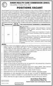 Sindh Health Care Commission CEO Jobs 2021 in Karachi