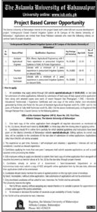 The Islamia University of Bahawalpur Jobs 2021 for Assistant Agriculture Engineer