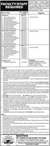 Assistant Professor NFC Multan Faculty Staff Jobs 2021