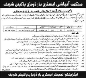 Irrigation Department Naib Qasid Jobs 2021 at Pakpattan Sharif