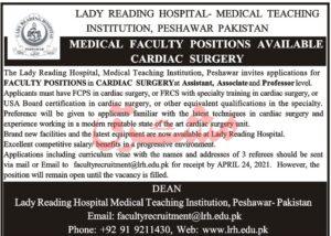 Medical Teaching Institution Jobs 2021 in Peshawar KPK