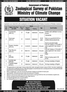 Ministry of Climate Change Islamabad Jobs 2021 for Steno etc