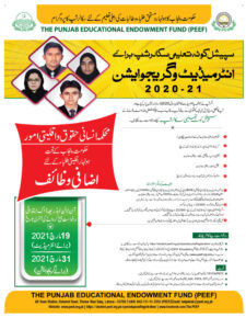 PEEF Scholarship Download Form 2021 for Matric, Inter, Master, Online Apply