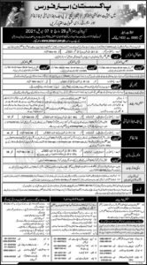 Pakistan Air Force Jobs 2021 for Education Instructor