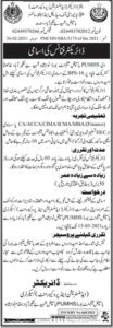 Peoples University of Medical & Health Sciences Job 2021 for Director Finance in Nawabshah