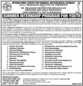 Research Institute of Chemistry Summer Internship Program 2021
