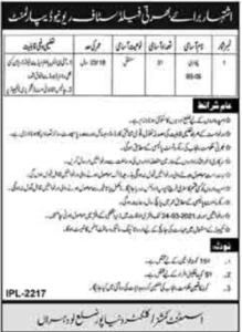 Revenue Department Jobs 2021 For Patwari in Lodhran