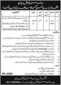 Revenue Department Patwari Jobs 202 in Shujabad