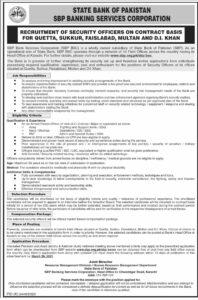 SBP Banking Corporation Jobs 2021 in Sukkur