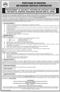 State Bank of Pakistan SBP Jobs 2021 Operational Arm