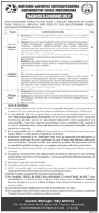 Water And Sanitation Services WSSP Jobs 2021 for General Manager