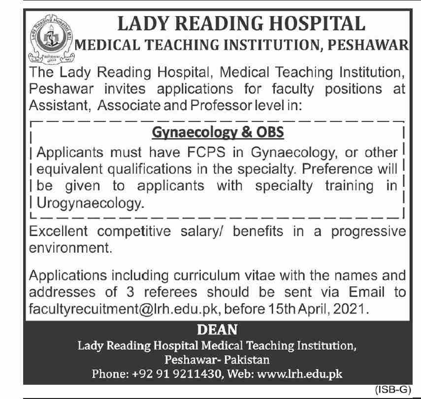 Medical Teaching Institution Latest Jobs 2021 in Peshawar KPK