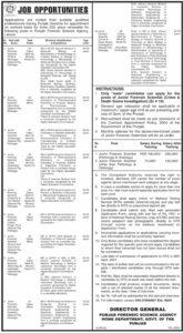 Punjab Forensic Science Agency Management Jobs 2021via NTS