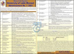 University of Lakki Marwat Latest Management Jobs 2021