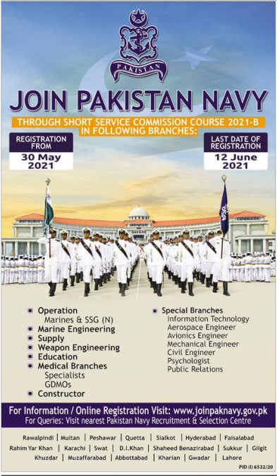 Join Pakistan Navy 2021 Through Short Service Commission Course 2021-B