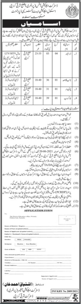 Naib Qaasid Jobs in Karachi 2021 at School Education & Literacy Department