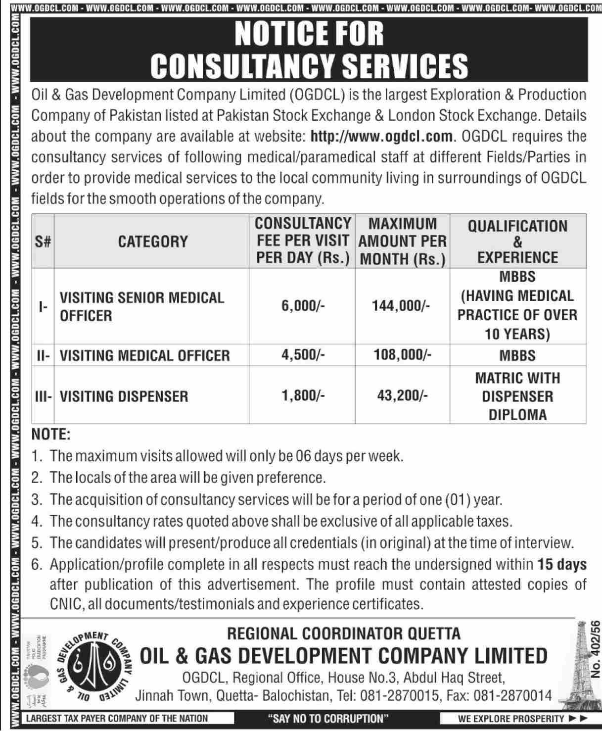 OGDCL Jobs 2021 in Quetta Balochistan, Oil & Gas Development Company