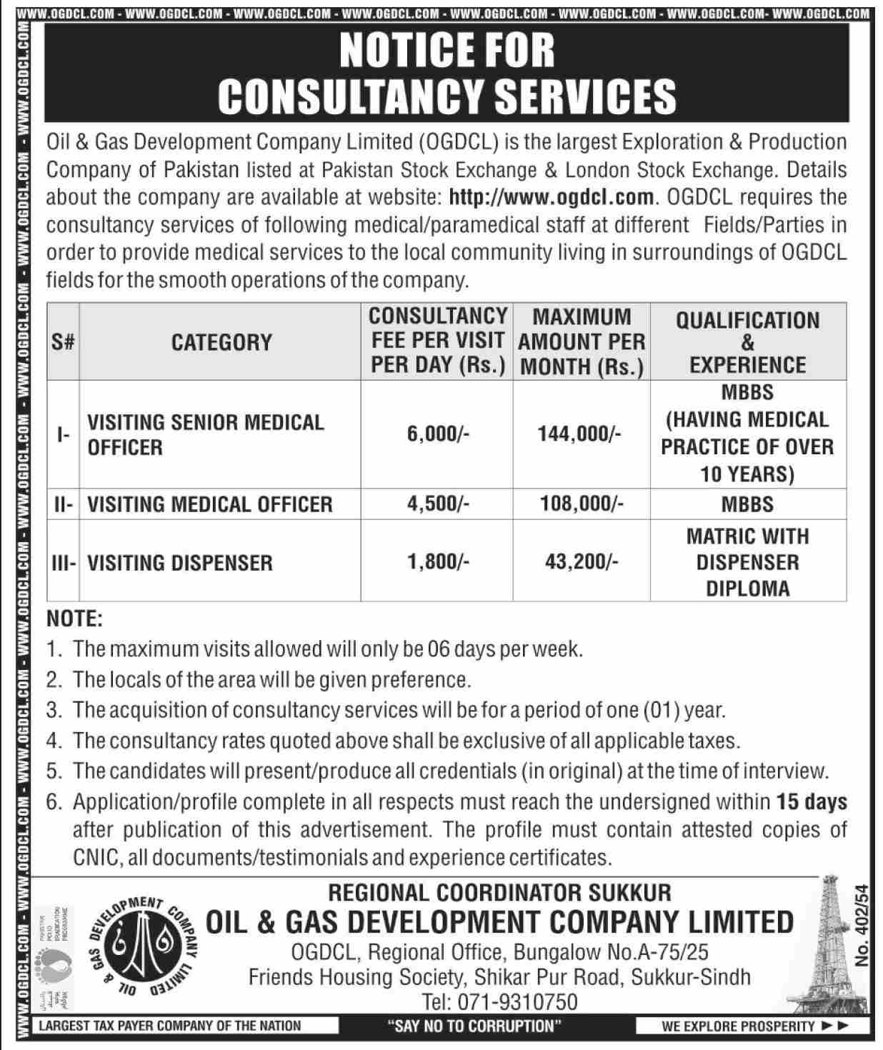 OGDCL Jobs 2021 in Sukkur, Oil & Gas Development Company