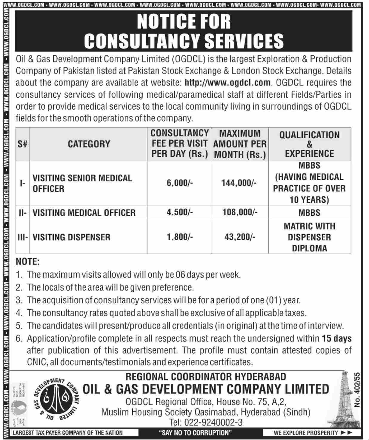 OGDCL Jobs 2021 in in Hyderabad, Oil & Gas Development Company
