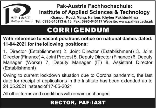 Pak Austria Fachhochschule Institute of Applied Sciences Jobs 2021