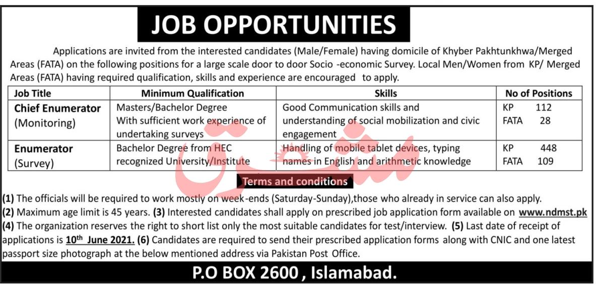 Public Sector Mashriq Newspaper Jobs 2021