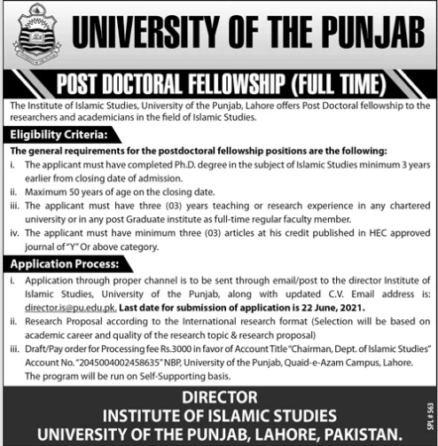 PU Doctoral Fellowship Jobs 2021