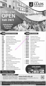 Admissions Lahore Lead University 2021 for Undergraduate and Graduate