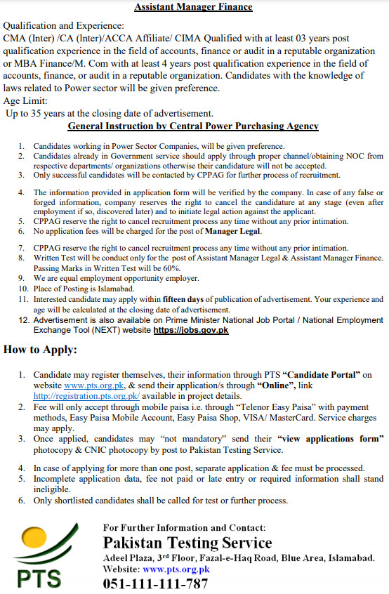 Central Power Purchasing Agency Jobs June 2021-Government of Pakistan (CPPA-G-XVII) (457)