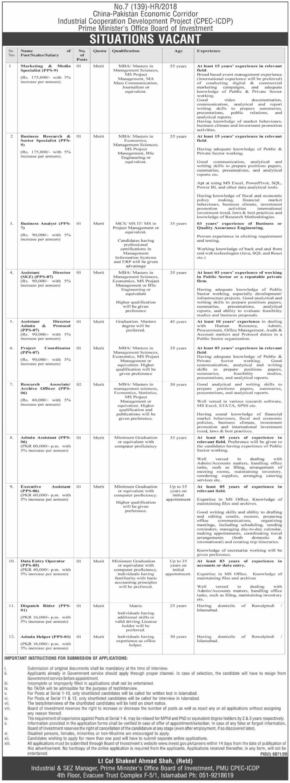 China Pakistan Economic Corridor Job 2021-CPEC Latest Jobs June 2021