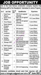Construction Company Rawalpindi Islamabad Jobs 2021