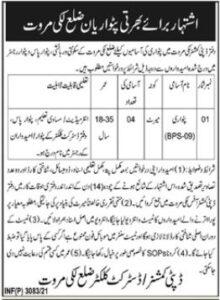 Deputy Commissioner Office Lakki Marwat Jobs June 2021