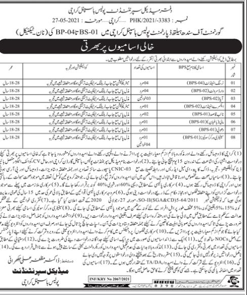 Govt Of Sindh Health Department Nursing Medical Jobs 2021