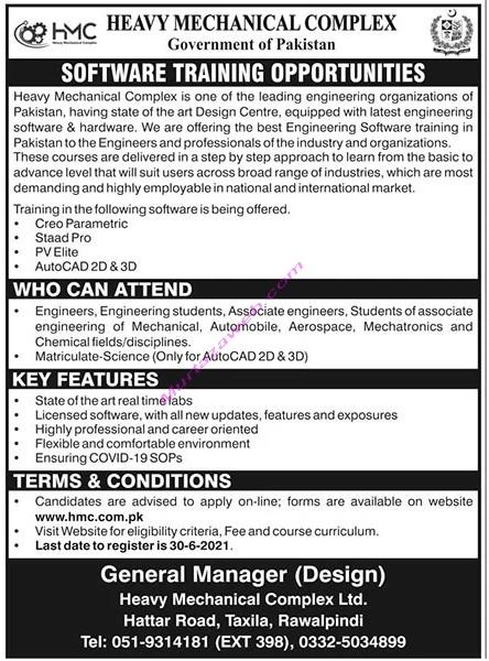 Heavy Mechanical Complex Rawalpindi Jobs 2021