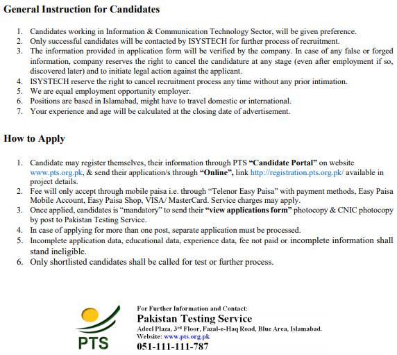 ISYSTECH Solutions Private Ltd Pakistan Jobs 2021