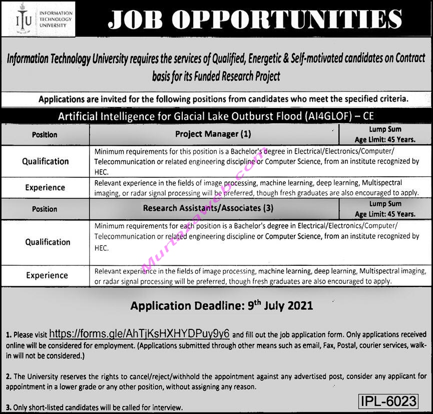 ITU Jobs 2021 for Project Manager, Research Assistant