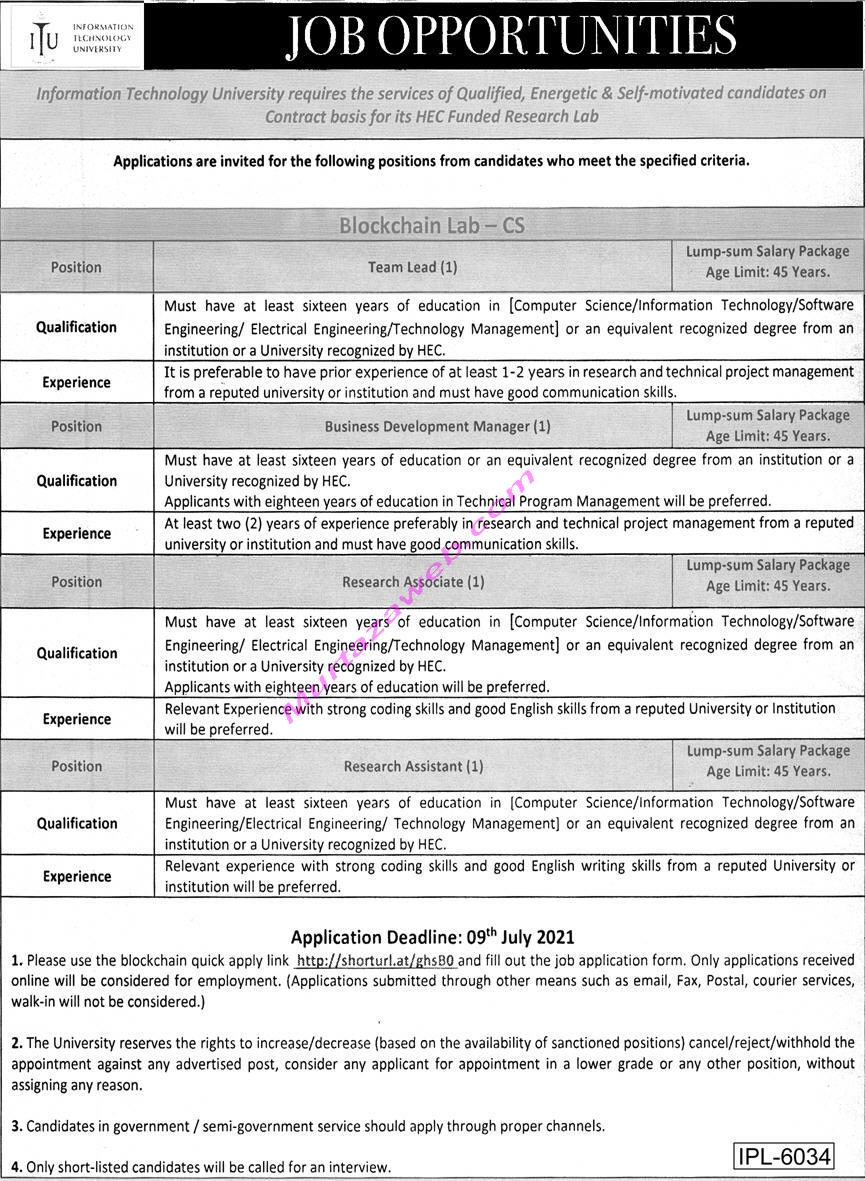 ITU Jobs 2021 for Project Manager, Research Assistant2