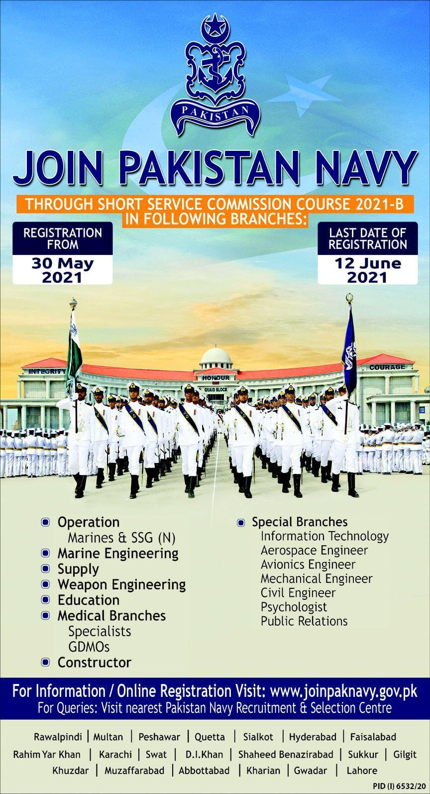 Join Pak Navy Jobs 2021 (1000+ Posts) through Short Service Commission 2021-B
