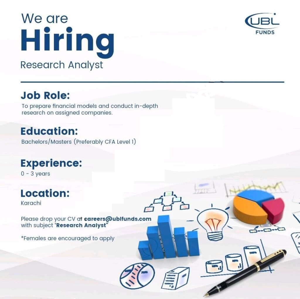 Latest Jobs in UBL Funds Manager 2021 Research Analyst careers@ublfunds.com