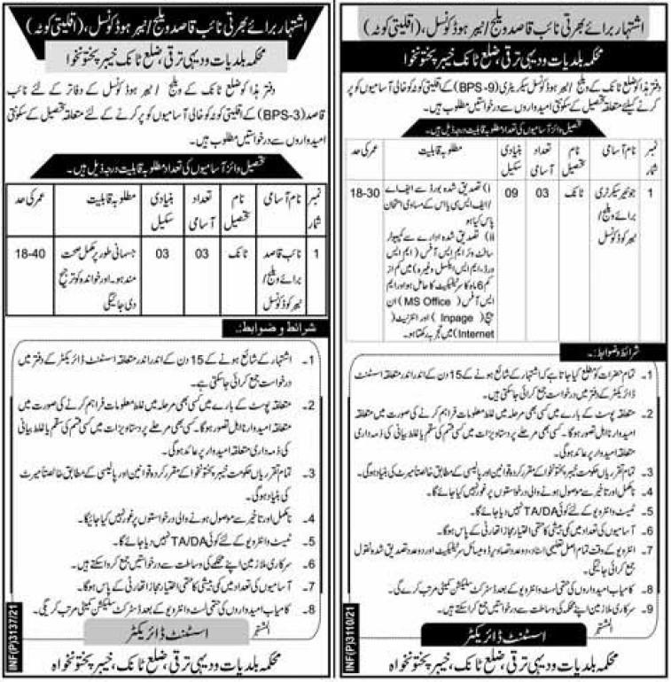 Naib Qasid Jobs 2021 for Non Muslim in KPK