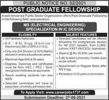 Public Sector Jobs at Post Graduate Fellowship Jun 2021
