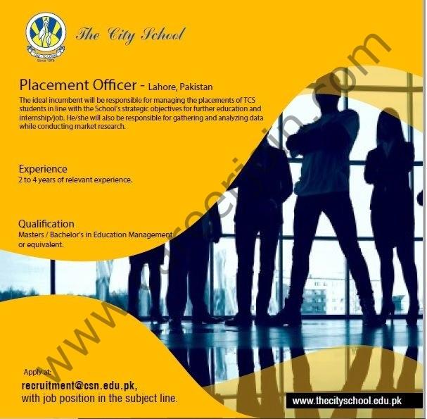 Recruitment City School Jobs in Pakistan