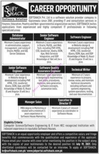 Softshack Pvt Ltd Gujranwala Jobs 2021