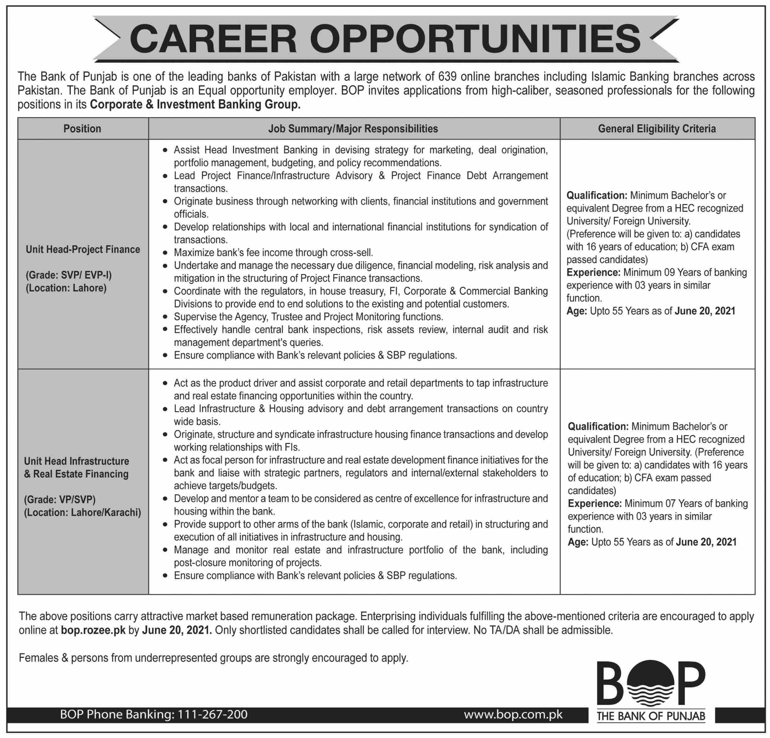 BOP Jobs Online Apply