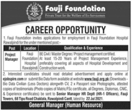 Fauji Foundation Career Opportunities 2021